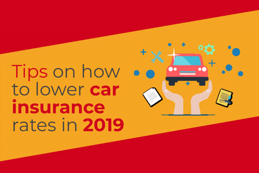 Tips on How to Lower Car Insurance Rates in 2019 [Infographic]